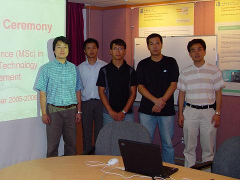 Scholarship Recipients in MSc IT Management