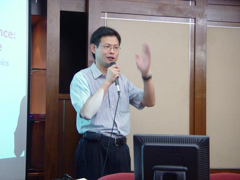 Head, Prof. Jiming Liu, giving an opening address